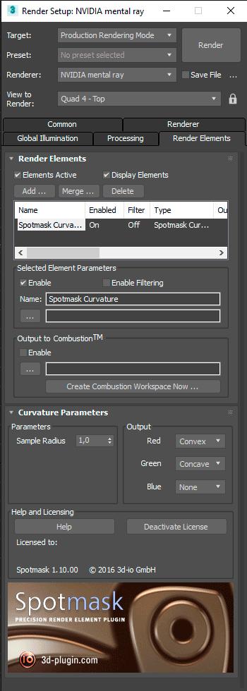 spotmask curvature menu